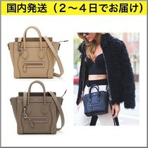 CELINE Luggage Plain Leather Handbags