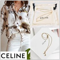 CELINE Casual Style Unisex Initial Chain Brass Necklaces & Pendants
