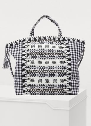 Gingham Casual Style Totes
