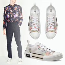 DIOR HOMME Flower Patterns Unisex Street Style Sneakers