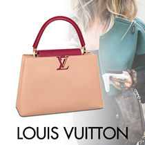 Louis Vuitton CAPUCINES Blended Fabrics Street Style Mothers Bags