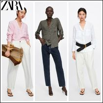 ZARA Casual Style Long Sleeves Shirts & Blouses