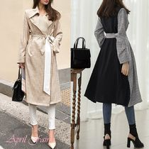 Zigzag Long Trench Coats