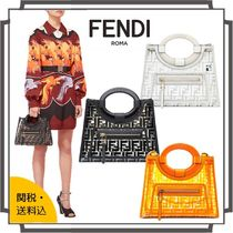 FENDI RUNAWAY Monogram Casual Style Blended Fabrics Crystal Clear Bags