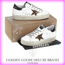 Golden Goose Leopard Patterns Casual Style Street Style Leather