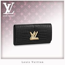 Louis Vuitton TWIST Crocodile Long Wallets