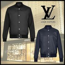 Louis Vuitton Casual Style Street Style Plain Leather Long Jackets