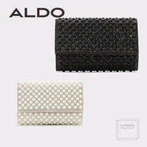 ALDO Faux Fur Studded 2WAY Chain Plain Elegant Style Party Bags