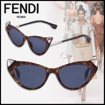 FENDI Blended Fabrics Square Sunglasses