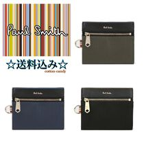 Paul Smith Stripes Nylon Plain Folding Wallets
