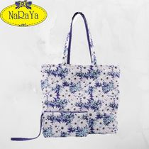 NARAYA Flower Patterns Casual Style A4 Totes