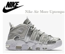 Nike AIR MORE UPTEMPO Rubber Sole Casual Style Street Style Plain Leather