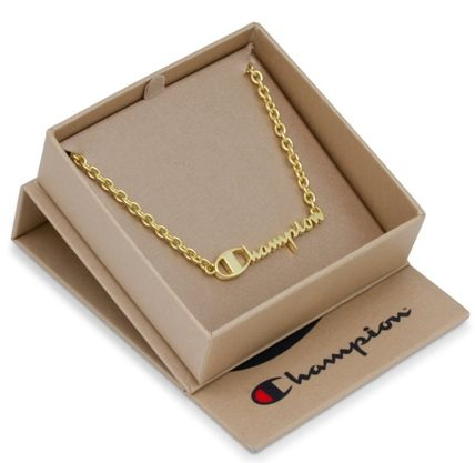 Unisex Street Style Collaboration Silver 14K Gold