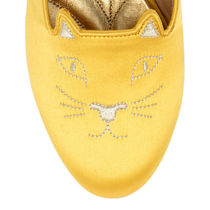 Charlotte Olympia Round Toe Casual Style Plain Other Animal Patterns Flats
