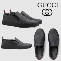 GUCCI Stripes Leather Loafers & Slip-ons