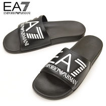 EMPORIO ARMANI Shower Shoes PVC Clothing Logo Shower Sandals