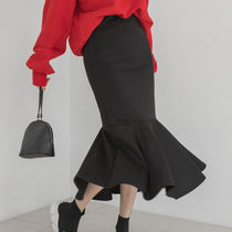 Casual Style Street Style Plain Long Maxi Skirts