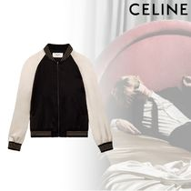 CELINE Short Stripes Unisex Street Style Bi-color Souvenir Jackets