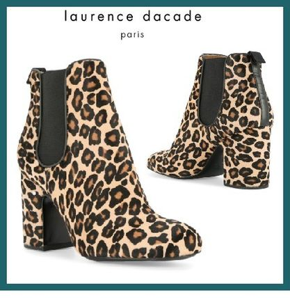 Leopard Patterns Leather Elegant Style Boots Boots