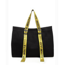 Off-White Casual Style Canvas Plain Totes