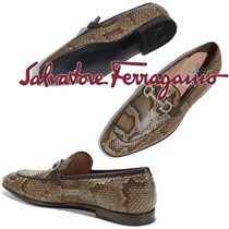 Salvatore Ferragamo Plain Toe Loafers Other Animal Patterns Leather