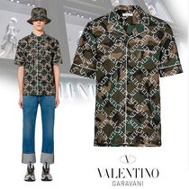 VALENTINO Camouflage Cotton Short Sleeves Shirts