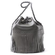 J & M Davidson Carnival Plain Leather Party Style Purses Fringes Handbags