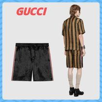 GUCCI Stripes Street Style Plain Joggers Shorts