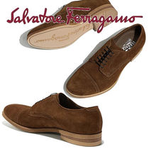 Salvatore Ferragamo Wing Tip Loafers Suede Plain Loafers & Slip-ons
