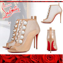 Christian Louboutin Leather Pin Heels Elegant Style High Heel Boots