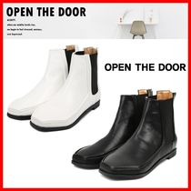 OPEN THE DOOR Casual Style Street Style Ankle & Booties Boots