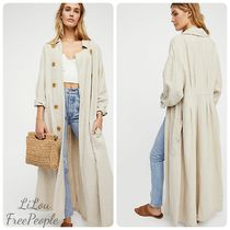 Free People Casual Style Plain Trench Coats