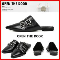OPEN THE DOOR Casual Style Street Style Flats