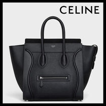CELINE Luggage A4 Leather Elegant Style Handbags