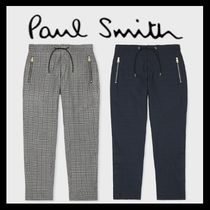 Paul Smith Printed Pants Glen Patterns Cotton Patterned Pants