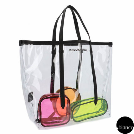 Unisex Street Style A4 Crystal Clear Bags PVC Clothing