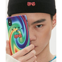 A PIECE OF CAKE Unisex Street Style Tie-dye iPhone 8 iPhone X iPhone XS