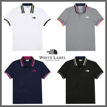 THE NORTH FACE Stripes Street Style Cotton Short Sleeves Polos