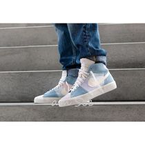Nike BLAZER Street Style Bi-color Plain Leather Sneakers