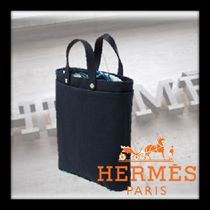 HERMES petit h Casual Style Unisex Handmade Totes