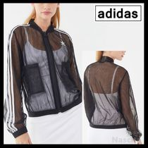 adidas Stripes Casual Style Street Style Outerwear