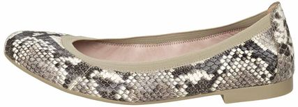 Leather Python Ballet Shoes