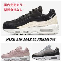 Nike AIR MAX 95 Round Toe Lace-up Casual Style Street Style Plain Leather