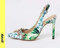 River Island Flower Patterns Casual Style Pin Heels