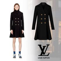 Louis Vuitton Cashmere Plain Medium Elegant Style Peacoats