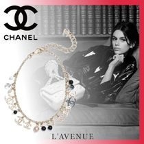 CHANEL Costume Jewelry Blended Fabrics Chain Elegant Style Anklets