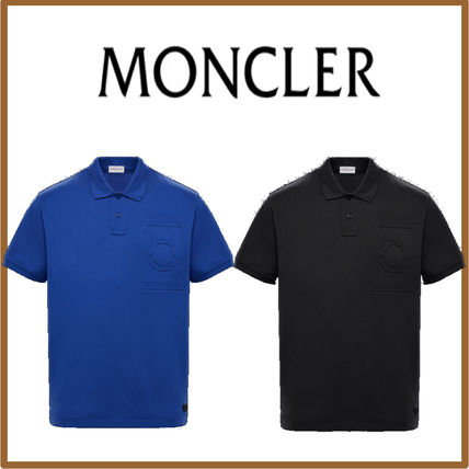 58ef7795b MONCLER MONCLER GENIUS 2019 SS Pullovers Street Style Cotton Short Sleeves  Polos