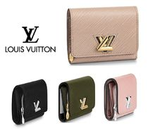 Louis Vuitton Unisex Plain Leather Folding Wallets