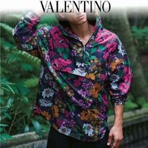 VALENTINO Flower Patterns Camouflage Street Style Windbreaker Jackets