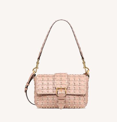 Flower Patterns Casual Style 2WAY Leather Shoulder Bags